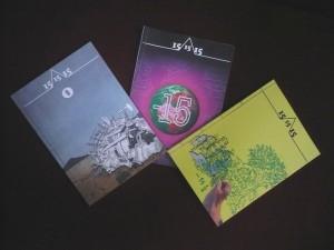 Foto de los 3 primeros recopilatorios de la revista 15/15\15