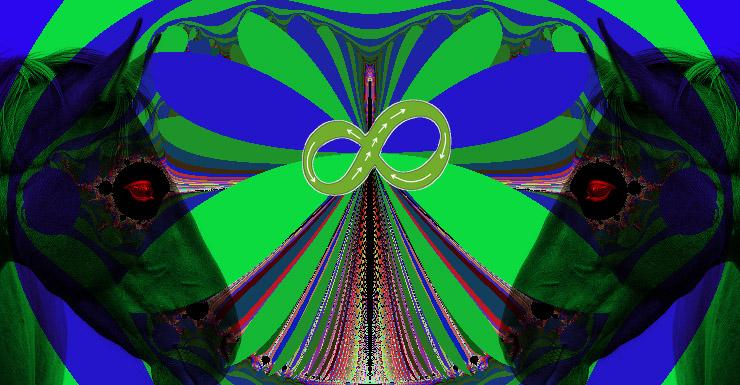 Mariposa fractal vs. caballo desbocado. Casdeiro.