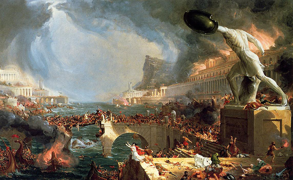 Thomas Cole: The Course of Empire Destruction (1836)