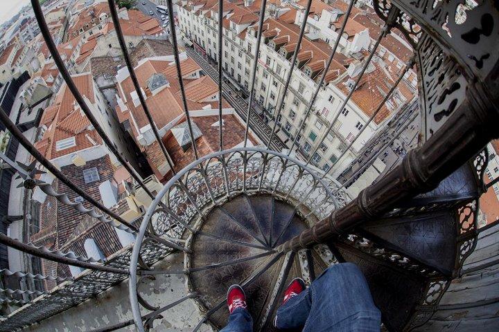 Ascensor de Santa Justa, en Lisboa. COPYRIGHT: Ander Aguirre