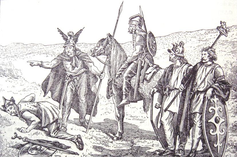 Los galos y otros pueblos europeos conquistados por los romanos se dedicaban a la horticultura, recolección y caza, formando redes o confederaciones de aldeas. Imagen: Wikimedia Commons.