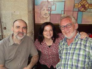 Manuel Casal Lodeiro (coordinador de 15/15\15) con Carme & Ton (Transició VNG)