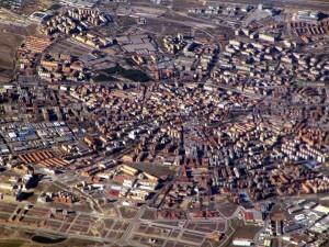 Vista aérea de Móstoles en 2012. Michiel1972 (Wikimedia Commons)