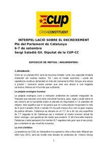 Interpel·lació sobre el decreixement (p. 1)