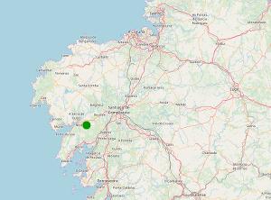 Mapa de situación de Froxán en Galicia