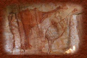 Pintura rupestre del genyornis