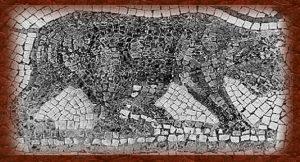 Mosaico de un oso del Atlas