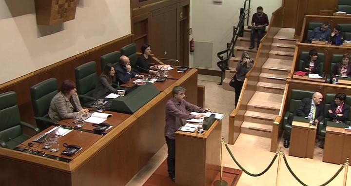 Mikel Otero, parlamento vasco, 1 de marzo de 2018