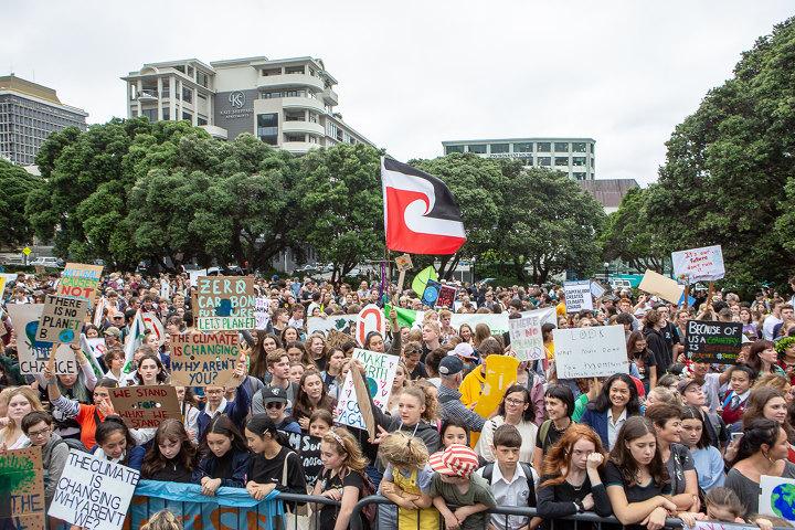 Huelga estudiantil por el clima en Wellington, Nueva Zelanda, 15/03/2019. Foto: David Tong
