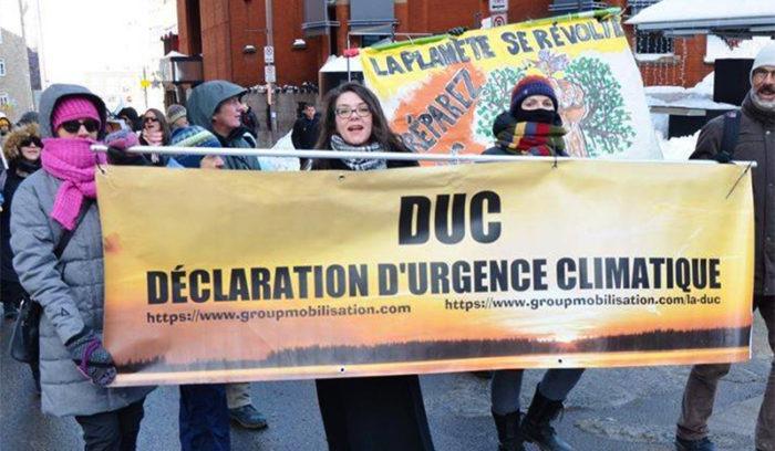 Declaration d'Urgence Climatique (Quebec)