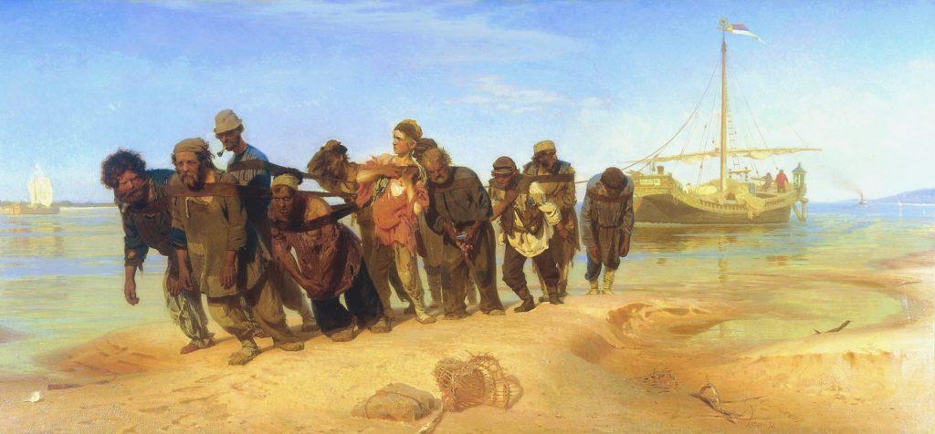 Ilya Repin. Burlaki (The Volga Bargehaulers). 1873