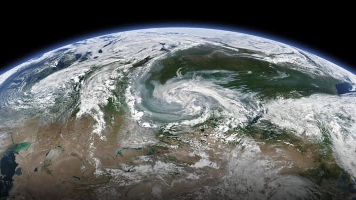 Imagen de satélite de los fuegos en Siberia