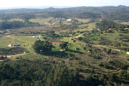 Foto aérea del pueblo de Tamera