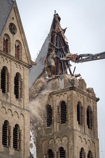 Demolición de la iglesia de San Lamberto (2018)
