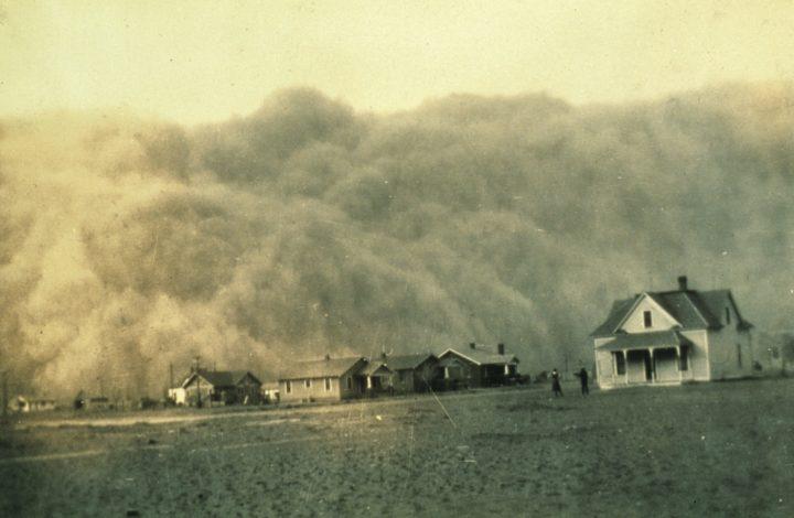 Tormenta de polvo acercándose a Stratford, Texas