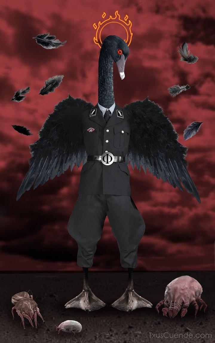 FasCisne Negro, ilustración de Txus Cuende