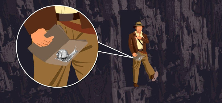 Leap of Faith. Indiana Jones and the Degrowth Crusade, illustration by Txus Cuende
