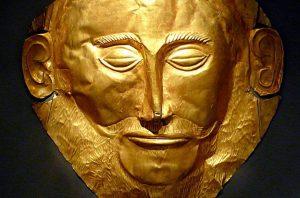 La Máscara de Agamenón es un objeto arqueológico descubierto en la acrópolis de Micenas en 1876 por el arqueólogo prusiano Heinrich Schliemann. podría fecharse entre 1550 y 1500 aC