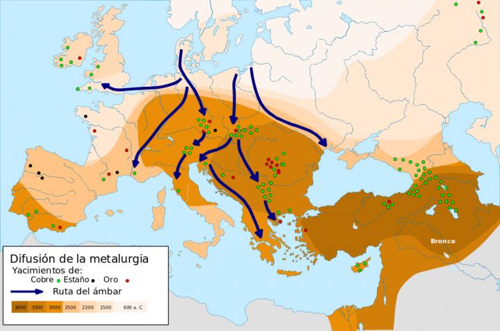 Área de expansión de la metalurgia en la Edad del Bronce – Wikipedia