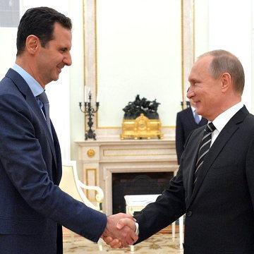 Al Assad con Putin en 2015