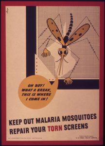 carteles contra la malaria de la Segunda Guerra Mundial de los Estados Unidos