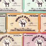 Billetes del juego de mesa Petropolis