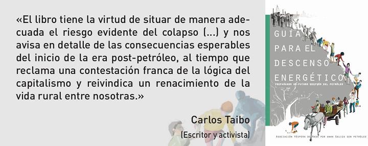 Carlos Taibo acerca de la 'Guía para el descenso energético'