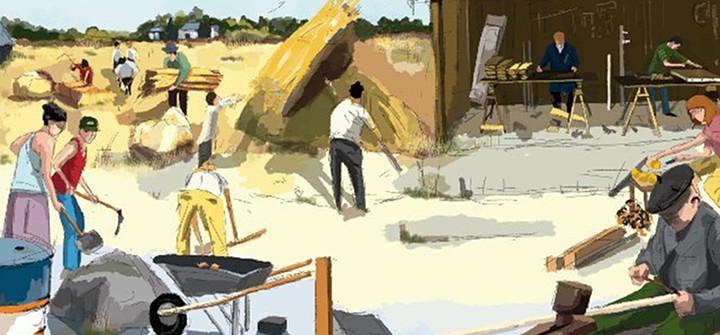 Ilustración de Antía Barba Mariño para la 'Guía para el descenso energético'
