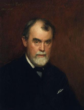Samuel Butler retratado por Charles Gogin