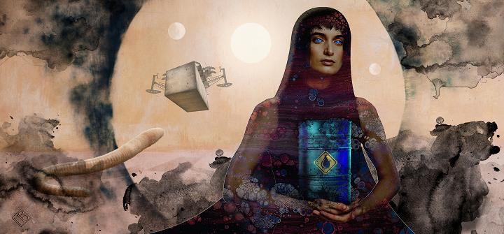 Dune colapsista, ilustración de Mario Chaparro Rubio