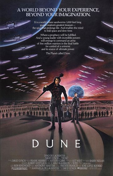 Póster de la adaptación de 'Dune' al cine dirigida por David Lynch en 1984