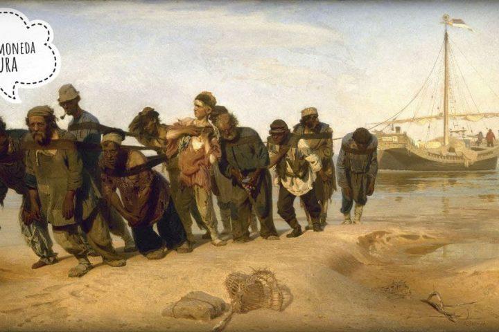 Los sirgadores del Volga (https://es.m.wikipedia.org/wiki/Los_sirgadores_del_Volga) cuadro de Iliá Repin