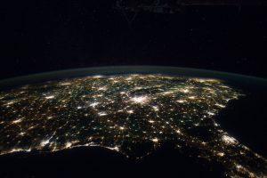 Southeastern USA at Night (NASA, International Space Station, 01/29/12)