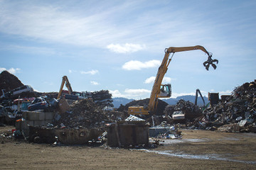 Recycling metals in Eugene, Oregon (USA). Source: Wikimedia Commons.