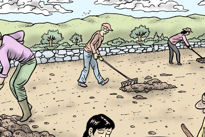 Viñeta de 'La huerta', de Rubén Uceda