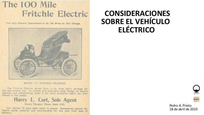 Consideraciones sobre el vehículo eléctrico (Presentación)